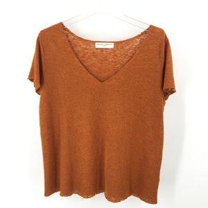 Project Social T UO Raw Hem Textured Knit Tee